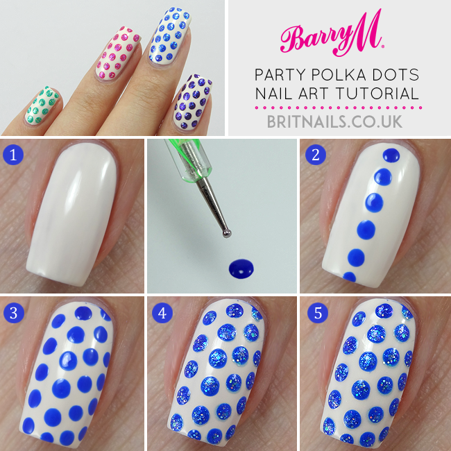 Party Polka Dots Nail Art Tutorial B G Fashion