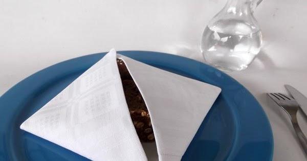 & Textile Arts Now: Napkin Folding- Simple bread basket