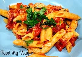 Penne Pasta in Tomato and Basil Sauce