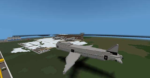 Airplane Landing  - Minecraft Metropolis