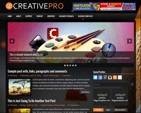 CreativePro Free Blogger Template