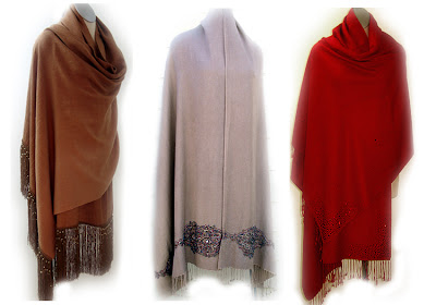 Types of Outerwears - Shawls, Stoles and Ponchos