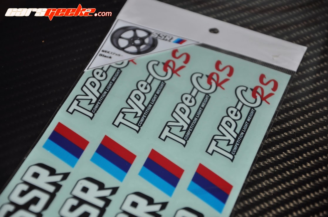 SSR Type C and Type C-RS sticker vinyl