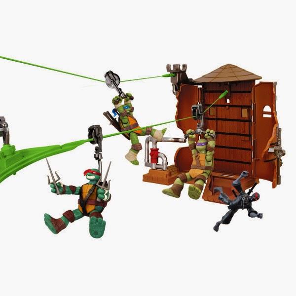 JUGUETES - LAS TORTUGAS NINJA : Ninja Turtles   Z Line Torre de agua   Producto Oficial | Giochi Preziosi 95050 | A partir de 4 años