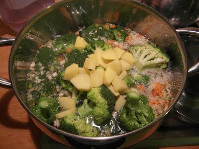 Krem brokułowy - przygotowanie