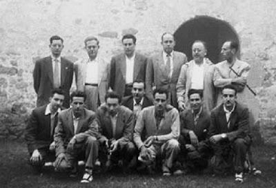 Ajedrecistas participantes en el II Torneo Nacional de Ajedrez de La Pobla de Lillet 1956