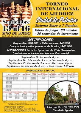 IRT TORNEO INTERNACIONAL AJEDREZ CIUDAD PALMIRA (Dar clic a la imagen)