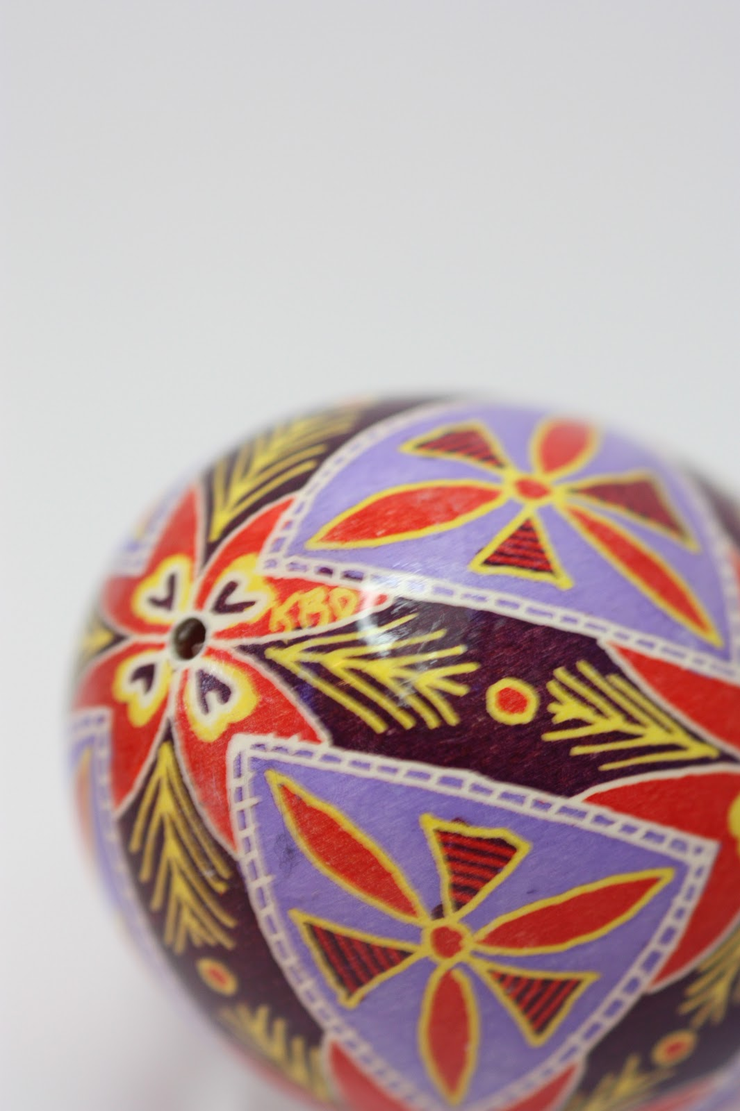 Red and Purple Traditional Pysanky