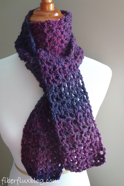 Fiber Flux Free Crochet Patternberry Pie Scarf