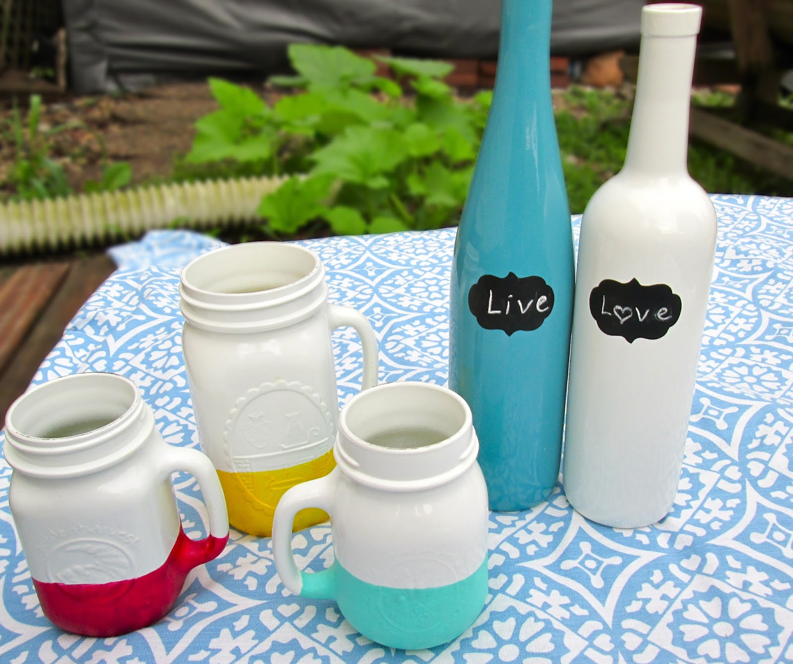 Painted Bottles And Jars