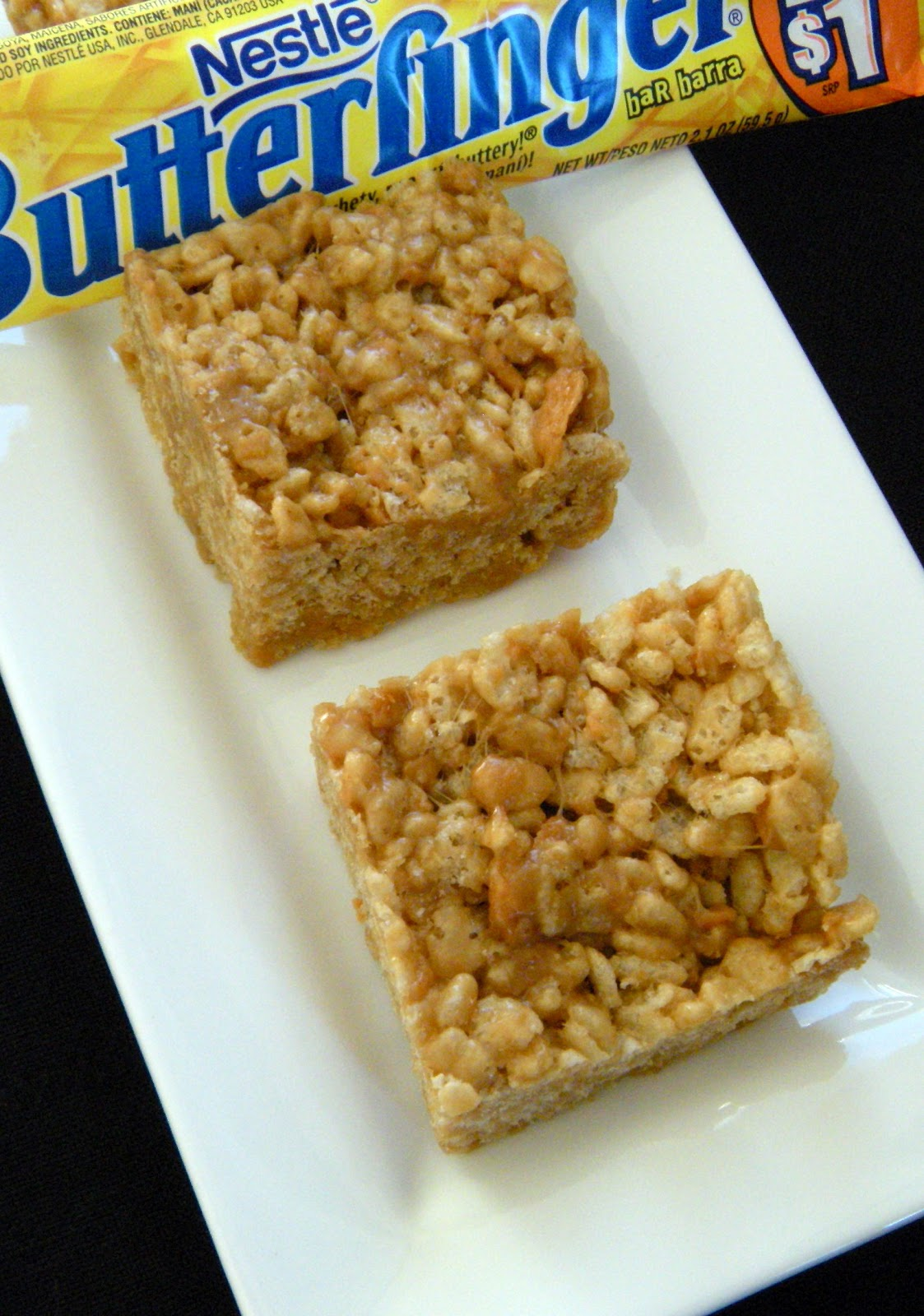 Butterfinger Rice Krispie Treats - 365 Days of Baking & More