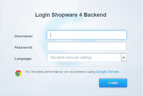shopware login