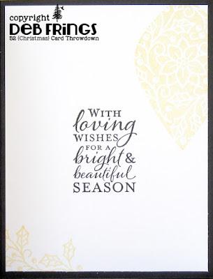 Season's Greetings inside - photo by Deborah Frings - Deborah's Gems