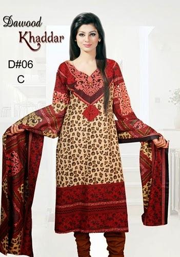 Dawood Khaddar Collection 2014