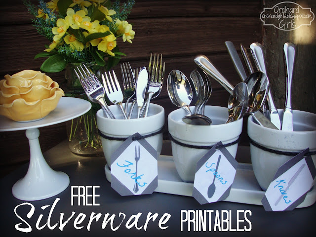 Patio Silverware Holder + FREE Printable