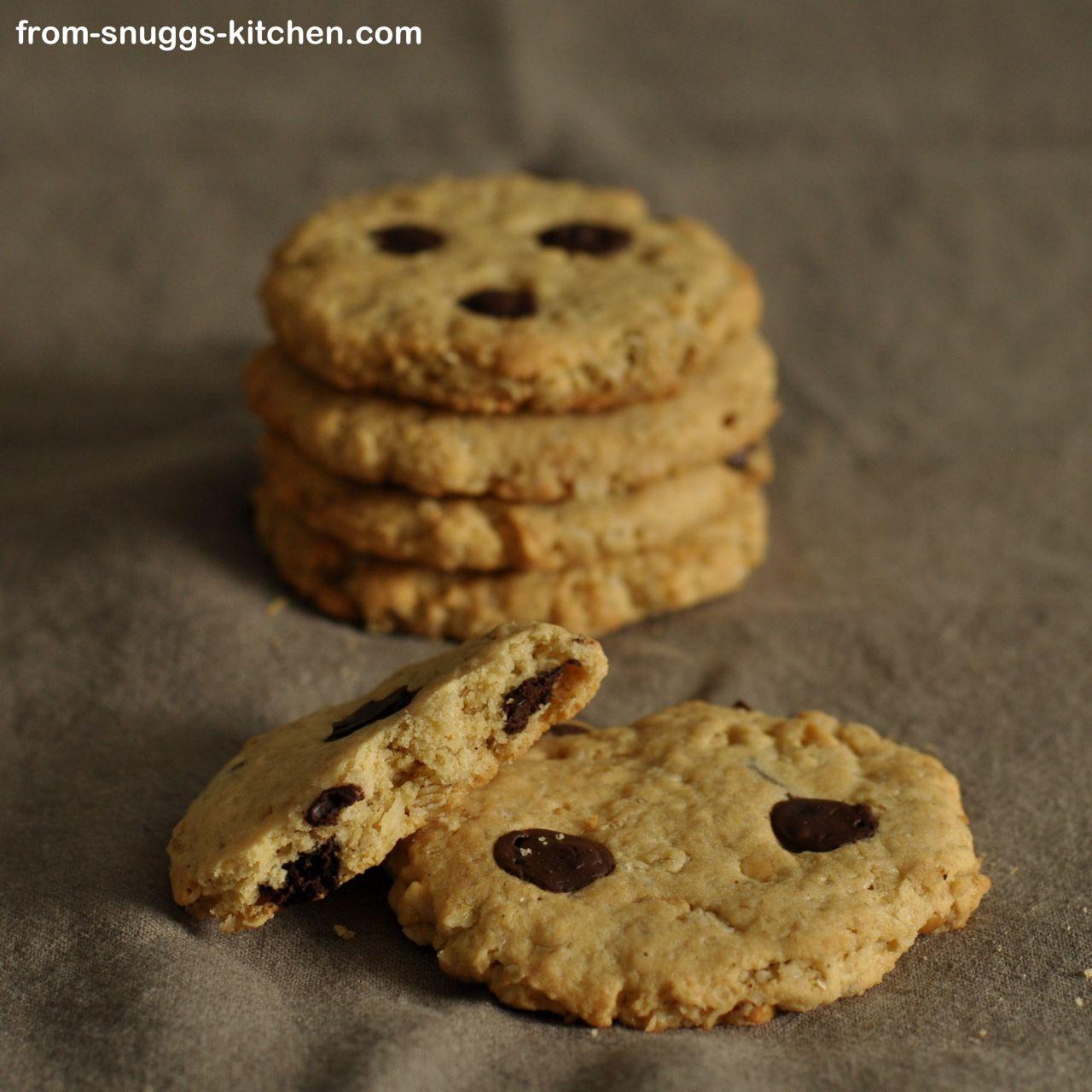 Haferflocken-Erdnusscreme-Schokoladen-Cookies
