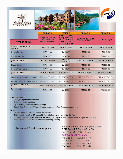 HOTEL LANGKAWI LAGOON till 31 March 2014