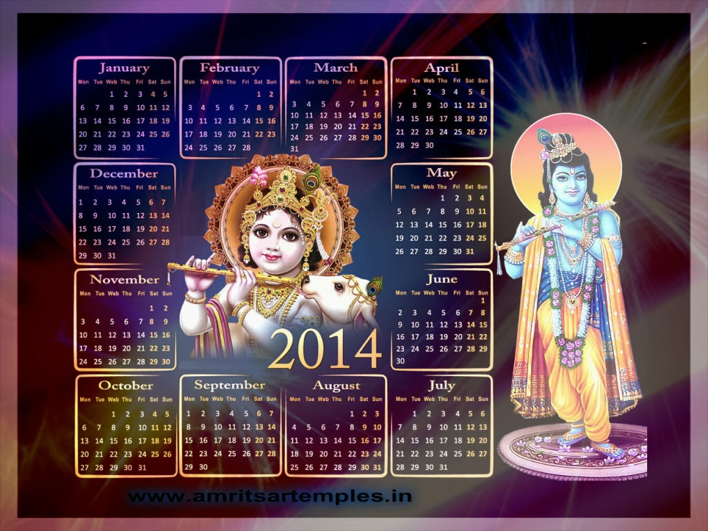 Happy New Year Lord Krishna Happy New Year 2014 With Lord
