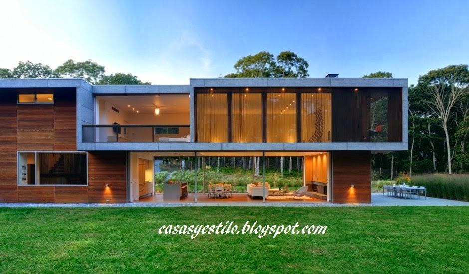Casa moderna minimalista casas y estilo for Casas actuales modernas