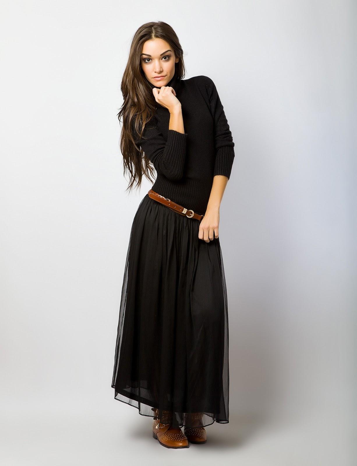 Con cazadora: Me ha gustado este look que combina la falda con una ...