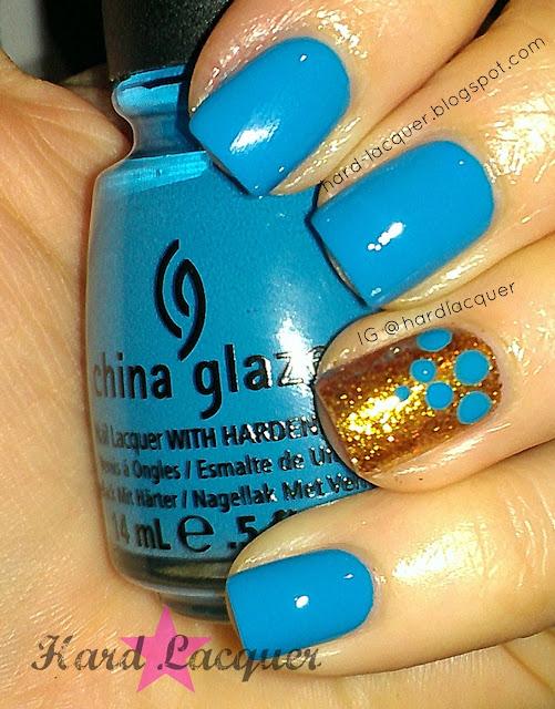 Avant Garden medium blue turquoise creme cream
