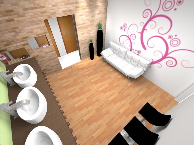 Diseño de un living comedor: Antebaño y baño publico