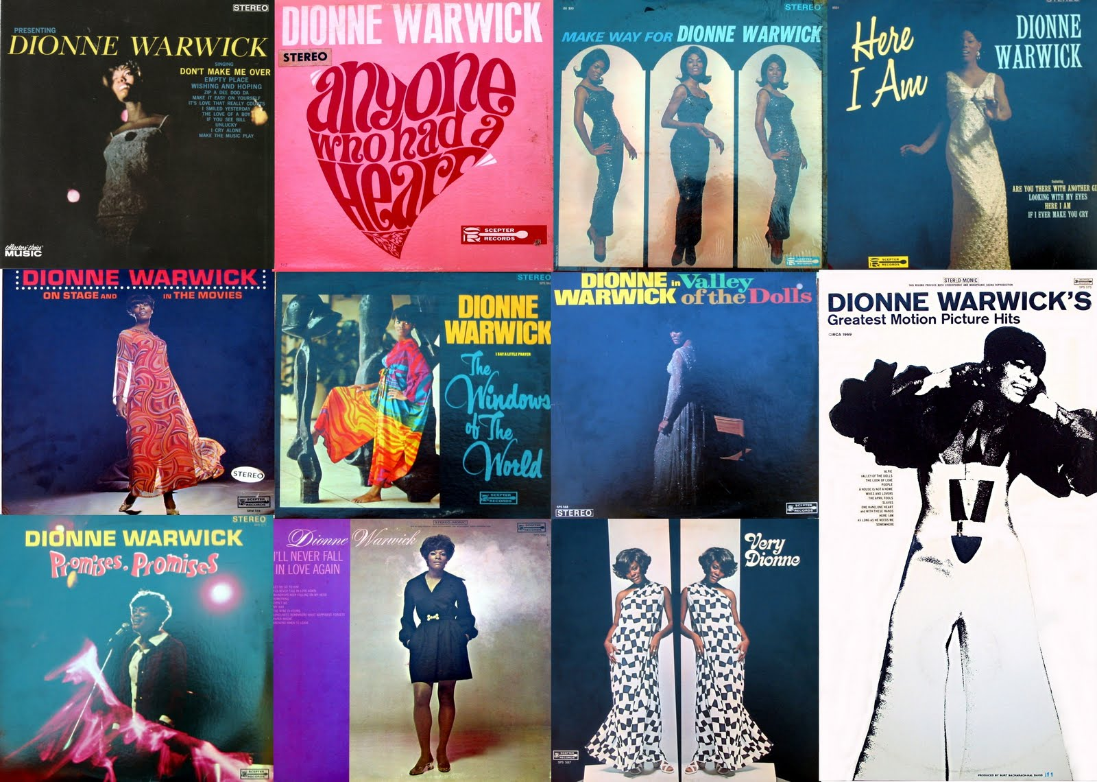 Dionne Warwick - On Stage and in the Movies - Reviews