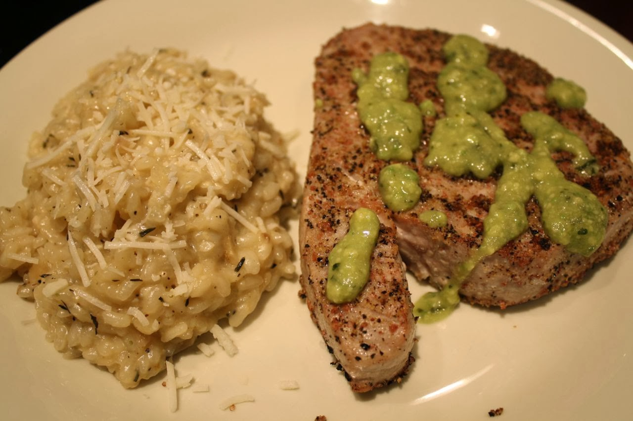 ... House: Meal No. 835: Coriander & Ginger-Crusted Grilled Tuna Steaks