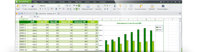 Kingsoft Office Free 2013 - Graphical Data