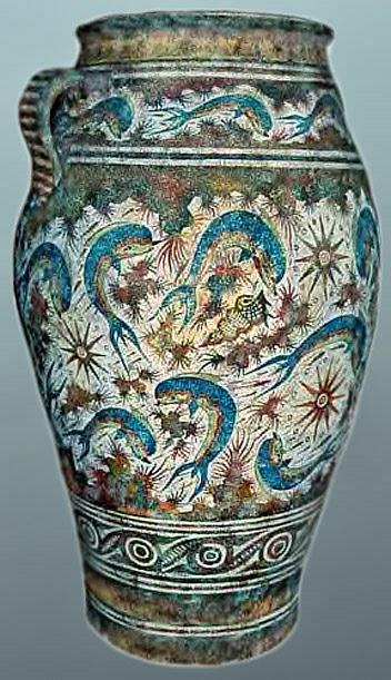 Greek vase 6 dolphins sex