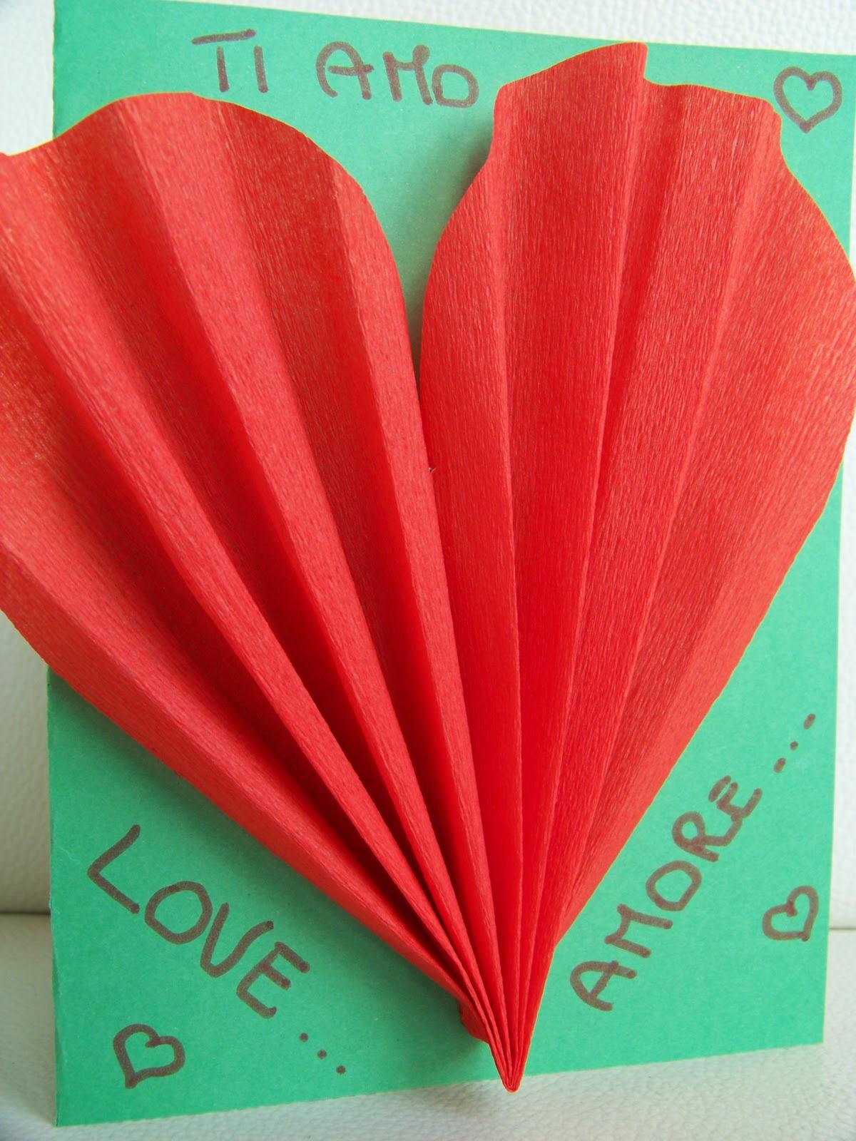 Ben noto MammA GiochiaMo?: Lavoretti per San Valentino: biglietto di auguri  WH06