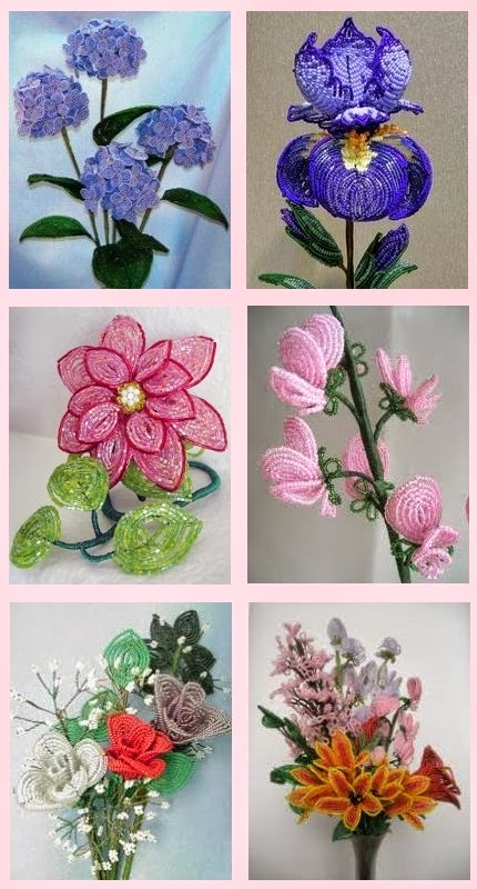 French bead flower making, a vintage craft is new again