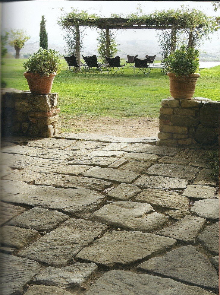 Acquired objects as old as time stonework for Pictures of stone patios