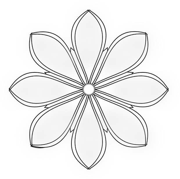 flowers clip art black and white