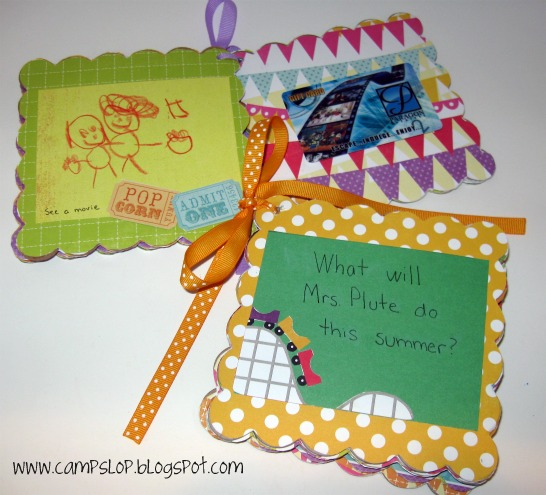 end of summer crafts camp slop end of year teacher gifts
