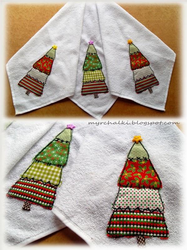 полотенце с аппликацией своими руками