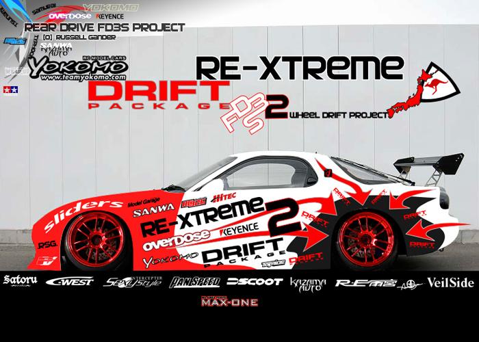 Plastic Wrap Car >> RE-Xtreme RC: RE-Xtreme RC Yokomo Drift Package 2 Wheel Drift Project