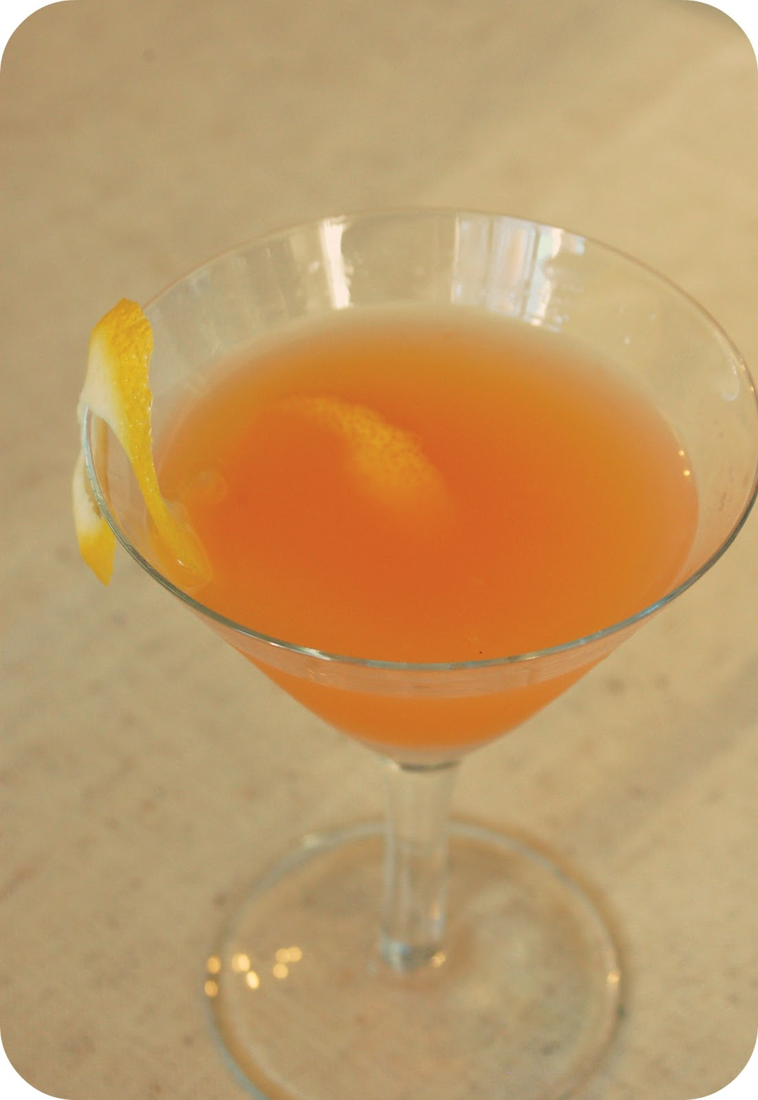 sparkling siberian sunrise cocktail