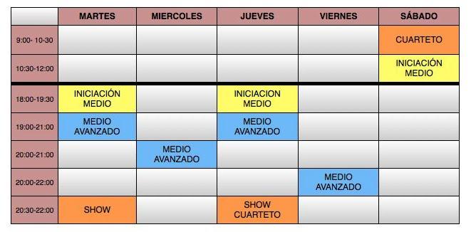 HORARIO TEMPORADA 2013-2014