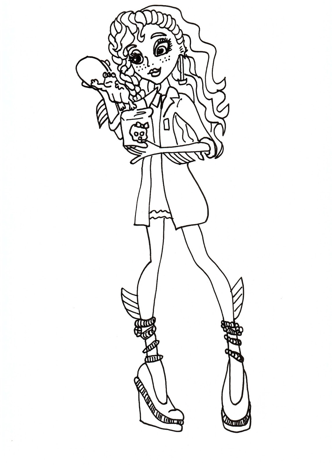 monster high coloring pages lagoona - photo#24