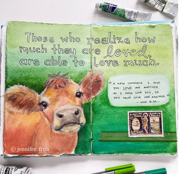 Journal Pages by Jennifer Frith