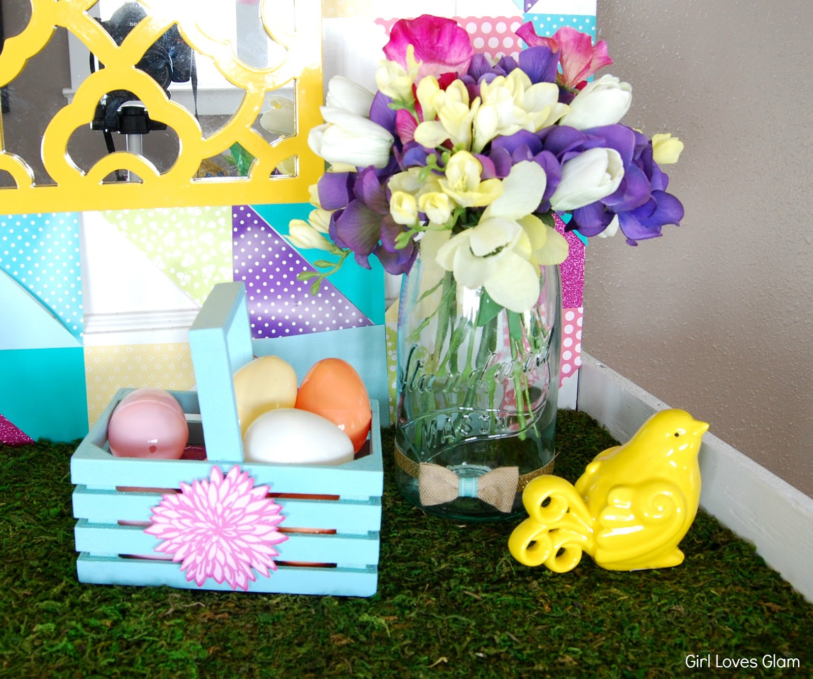 Springster Decor Spring Easter Decor And Tutorial Girl Loves Glam