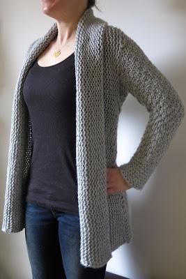 free chunky cardigan knitting pattern