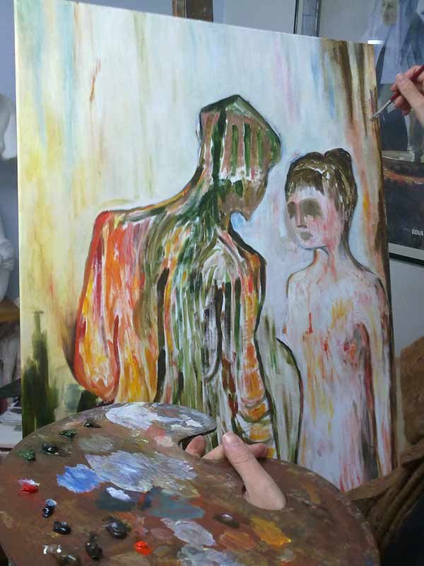 Eli pintando al oleo