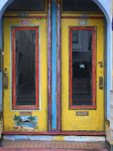 "Doors in Chinatown (San Francisco), 6x9"" jumbo card, Schack Art Center"