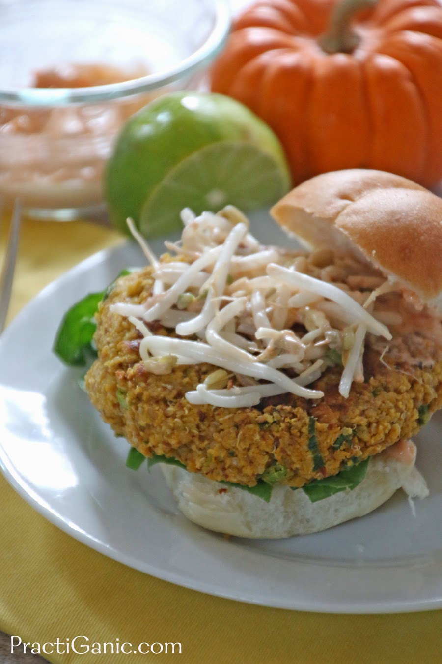 Pumpkin Burgers with Spicy Mayo
