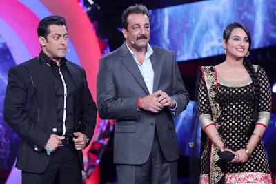 Sonakshi Sinha in Big Boss 6 in Black Salwar Kurta