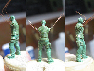 1/72 German modern infantry in progress.
