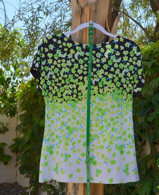 Front of floral top from New York & Co.