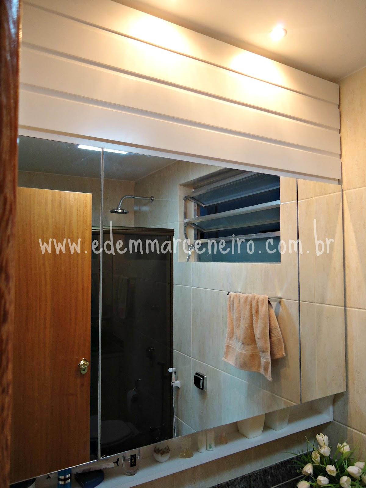 Armário Suspenso com Espelho e Porta laqueada para Banheiro Edem  #6B3B1D 1200x1600 Armario Banheiro Suspenso